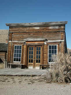one of the first buildings in Bannack