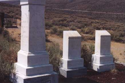 the Bodie cemetery