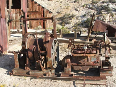 mining equipment was all over the area