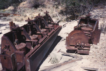 mining equipment is all over the area