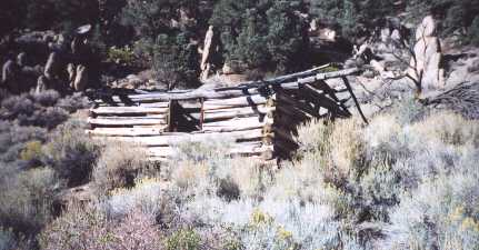 several buildings were log cabins