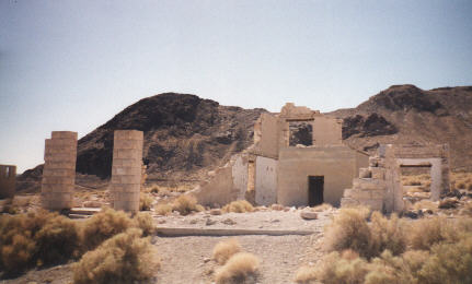 this was the first major building in Rhyolite