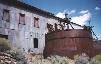 these ore processing tanks held water and ore